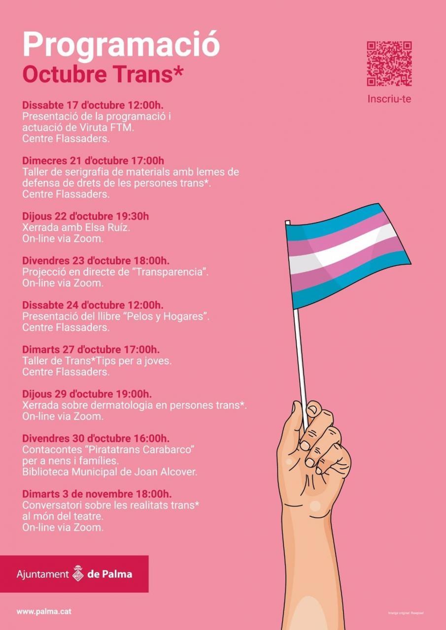 Cort organiza nueve actividades hasta el 3 de noviembre para celebrar el Día Internacional de la Transexualidad