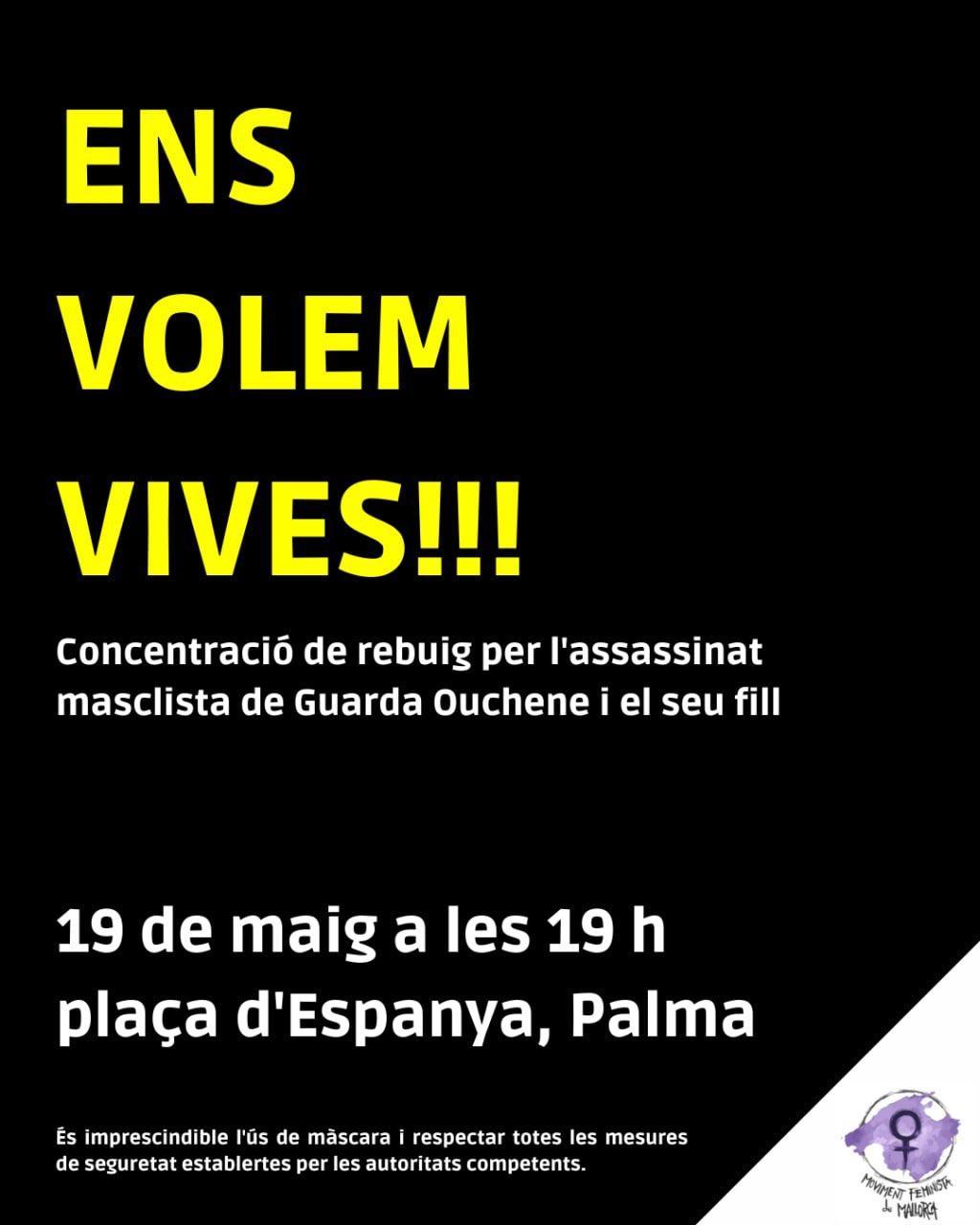 El Moviment Feminista de Mallorca convoca una concentració a Palma amb motiu del crim masclista de sa Pobla