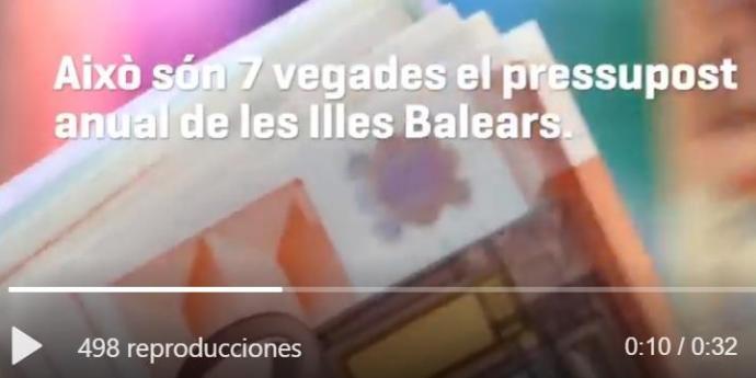 [VÍDEO] MÉS per Mallorca: «La ciutadania va salvar els bancs. Ara és el moment que retornin aquesta ajuda a la societat»