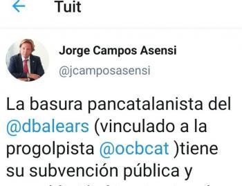Jorge Campos insulta i amenaça dBalears