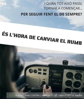 La Plataforma contra l'Ampliació de l'Aeroport llança la campanya 'És hora de canviar de rumb'