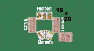 Marcador 19-20 a favor de la parella femenina. En la situació de la imatge na Maria Antònia truca de primeres. Què faríeu si fóssiu en Fusteret i en Moranta?
