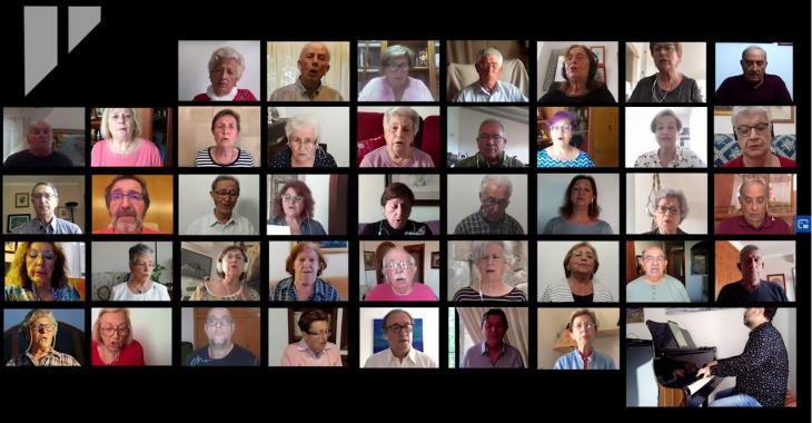 [VÍDEO] Més de cent cantaires d'associacions de gent gran participen en l'activitat col·lectiva 'Cantem des de casa'