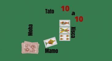 En Moha fa senya de l'amo i de manilla.  Veient les cartes de na Xisca, si en Mamo juga un as bord, que jugaríeu?