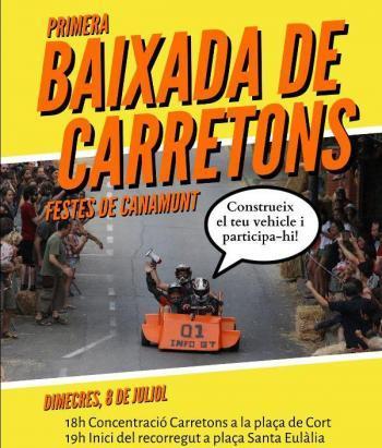 Primera 'baixada de carretons' al barri de Canamunt de Palma