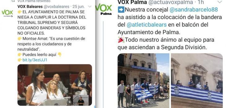 Vox s'embulla amb les banderes