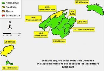 Les reserves hídriques de les Balears se situen en el 67% el mes de juliol