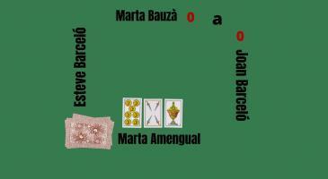 Si na Marta Bauzà fa senya de llengua d'espases, quina carta jugaríeu si fóssiu na Marta Amengual?