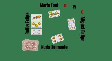 En Guille Felipe envida i na Marta Font i na Núria Belomonte no volen. Sabent que en Miguel Felipe té un rei, que jugaríeu si fóssiu en Guille Felipe?
