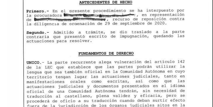 La secretària judicial de Manacor finalment rectifica i ara admet escrits en català