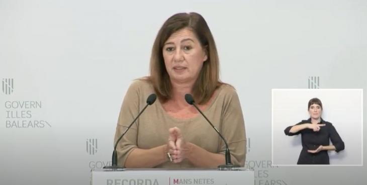 Francina Armengol demana disculpes a la població de les Balears