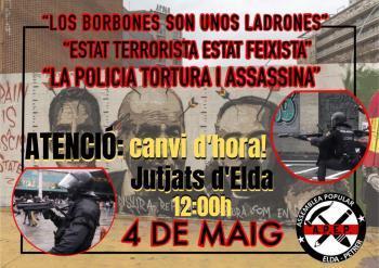 Citen a declarar tres antifeixistes alacantins per corejar consignes contra la Monarquia espanyola