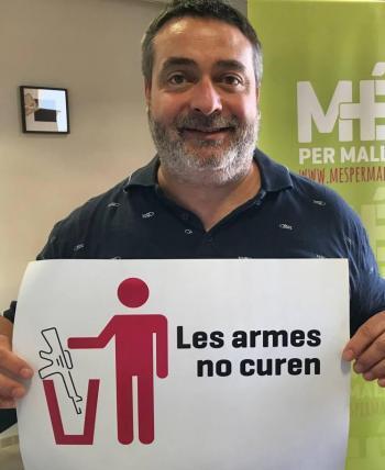 Joan Mas 'Collet' defensa reduir el pressupost militar: «En la cultura de la pau no té cabuda afegir més soldats i més armes»