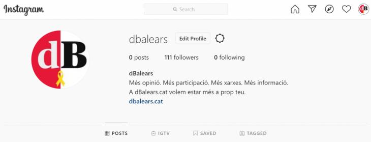 El dBalears s'estrena a Instagram