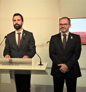 El TSJC cita a declarar Roger Torrent, Josep Costa i exmembres de la Mesa per permetre debatre sobre la monarquia i l'autodeterminació
