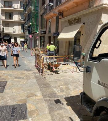 Pimeco denuncia que l'Ajuntament fa obres a Palma «perjudicant encara més els comerços en plena temporada turística»