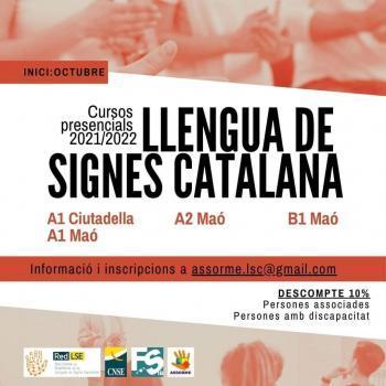 Organitzen cursos de llengua de signes catalana a Menorca