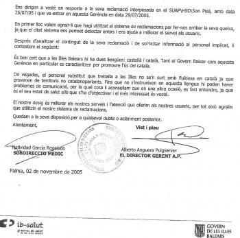 Al Centre de Salut de Son Pisà ja hi havia hagut casos de discriminació i l'Ibsalut va aconsellar els pacients que «es fessin entendre en castellà»