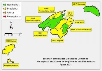 Les reserves hídriques de les Balears disminueixen i arriben al 46 per cent
