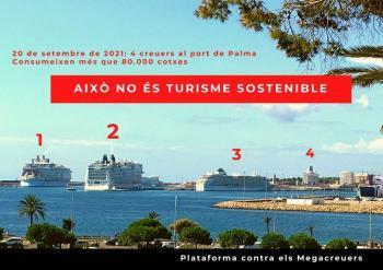 El port de Palma rep aquest dilluns la xifra més alta de creuers dels darrers dos anys