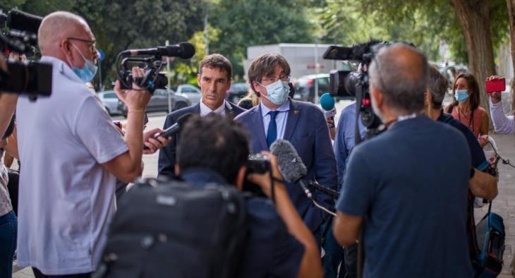 Puigdemont continua amb la seva agenda a Sardenya després de sortir de la presó