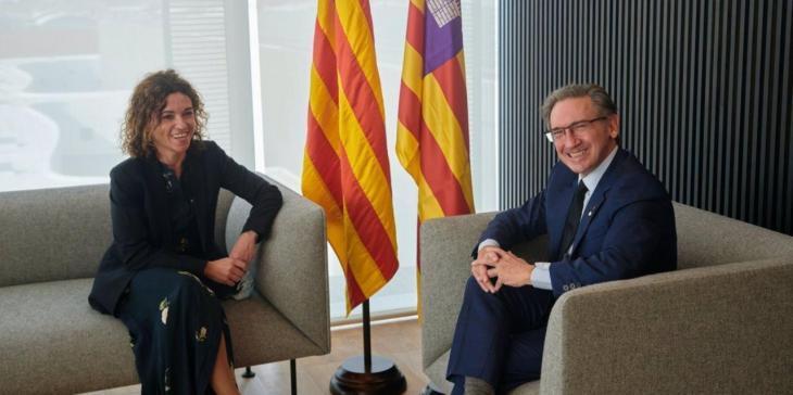 Les Balears i Catalunya col·laboren en matèria de finançament, de repte demogràfic i en estratègies de reactivació