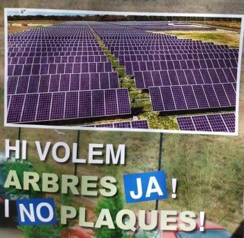 Son Bonet Pulmó Verd acusa la ministra de Transports de «mentir» sobre el «megaparc fotovoltaic»