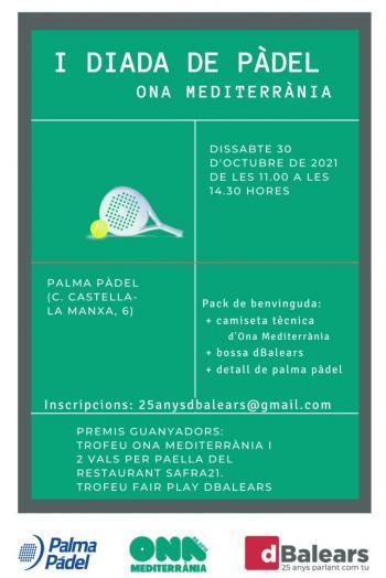 Primera Diada de Pàdel organitzada per Ona Mediterrània i dBalears